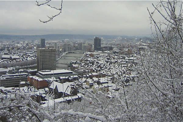 Liege sous la neige